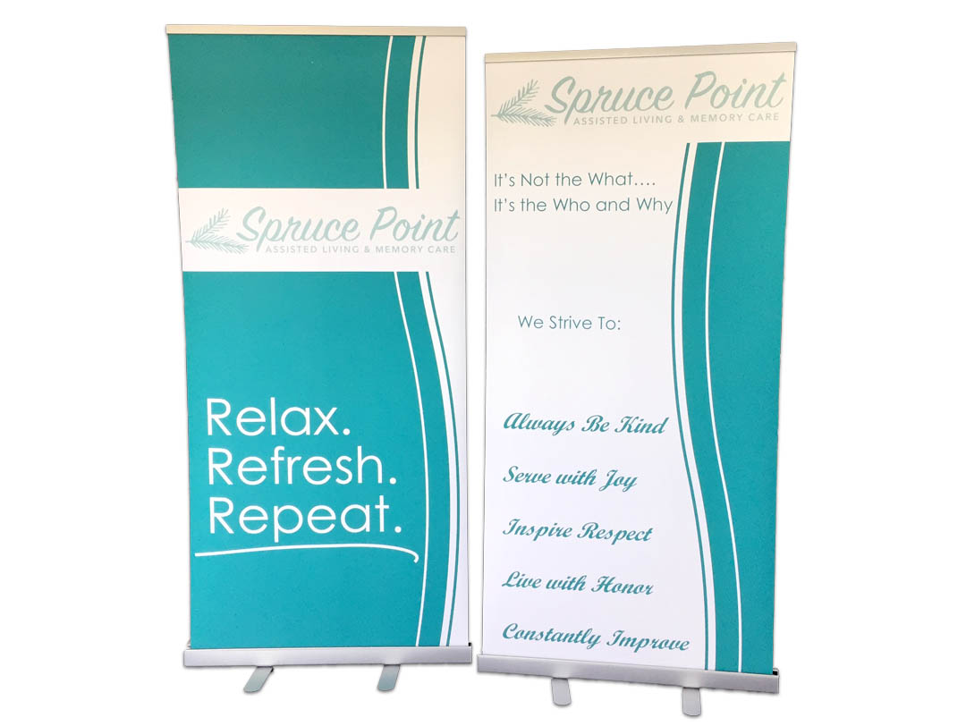 Spruce Point – Retractable Banner Stands