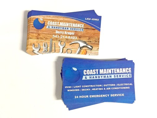 Coast Maintenance & Handyman Service – Business Card