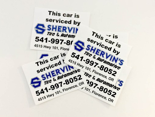 Shervin's Tire & Automotive – Vinyl Stickers
