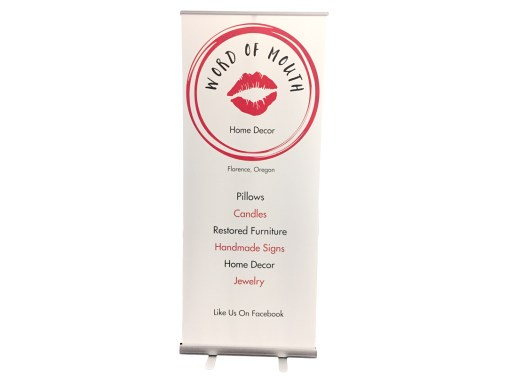 Word of Mouth Home Decor – Retractable Banner
