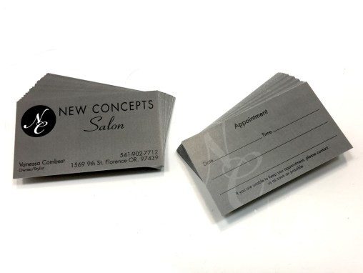 New Concepts Salon – Business Cards