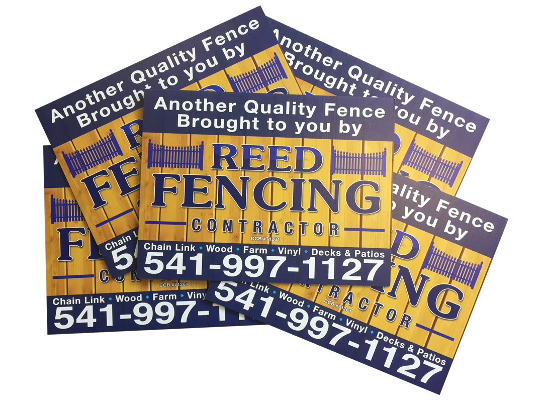 Reed Fencing – Yard Signs