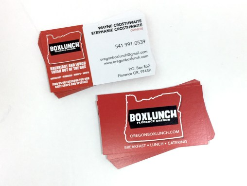 Box Lunch – Business Cards
