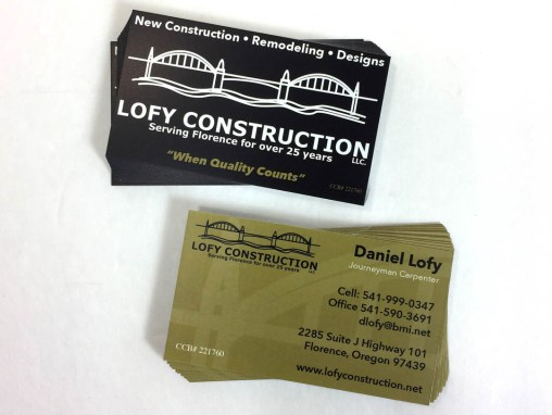 Lofy Construction – Business Cards
