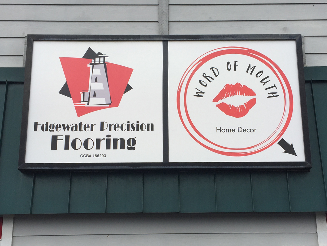 Edgewater Precision Flooring / Word of Mouth – Sign