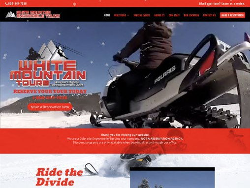 White Mountain Tours – Website Redesign