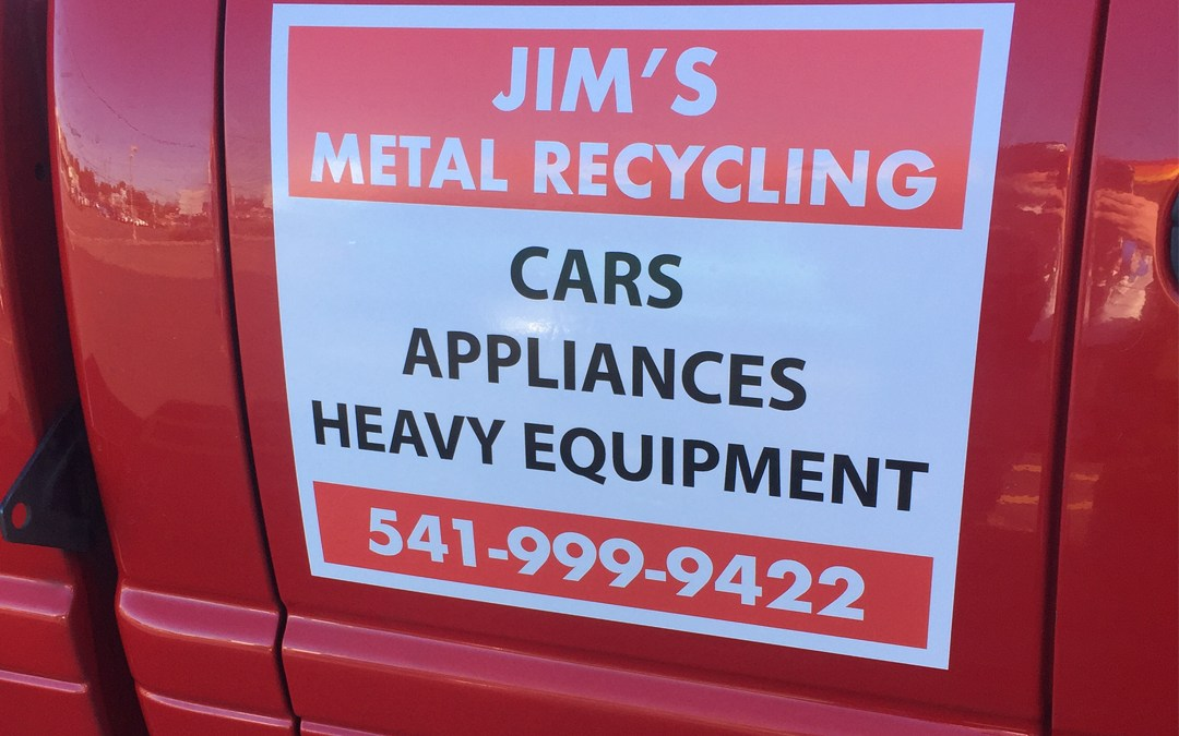 Jims Metal Recycling – Vinyl Sticker
