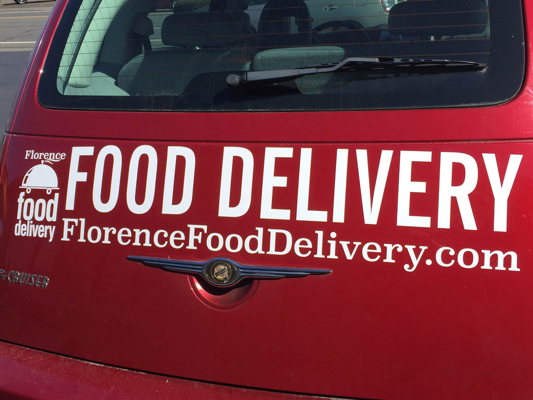 Florence Food Delivery – Vinyl Lettering