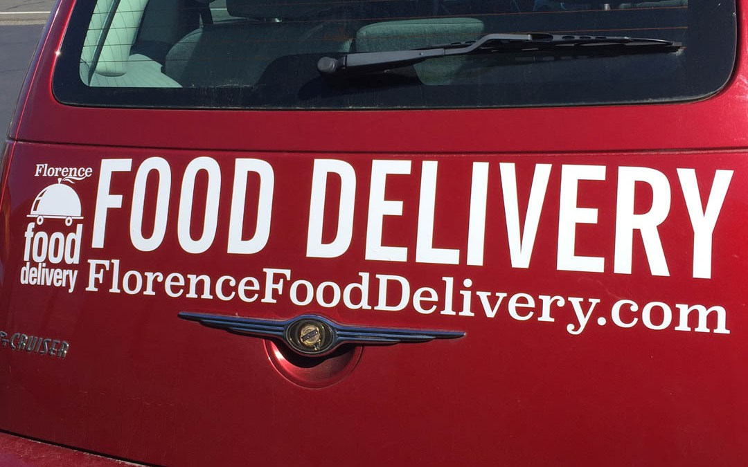 Florence Food Delivery – Vinyl Lettering