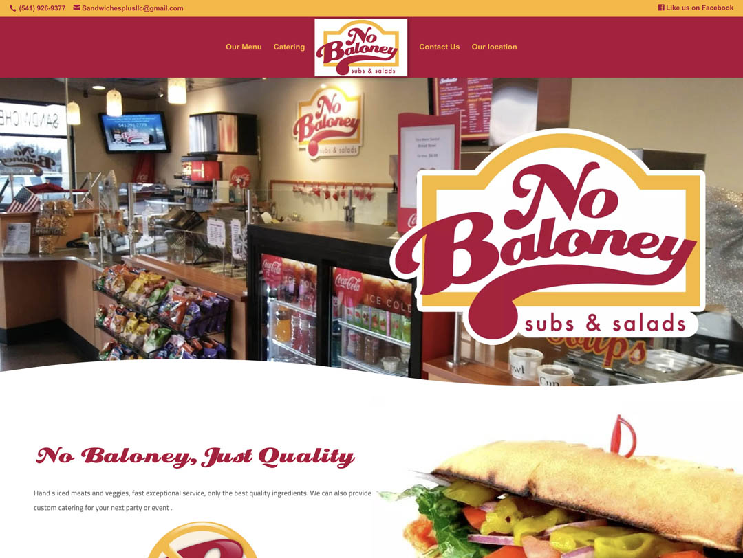 No Baloney Subs & Salads – Website