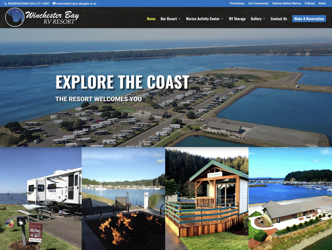 Winchester Bay RV Resort – Website Redesign