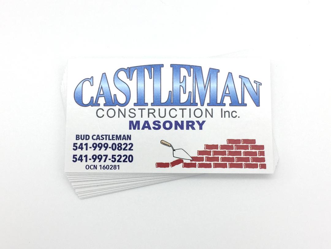 Castleman Construction – Business Cards