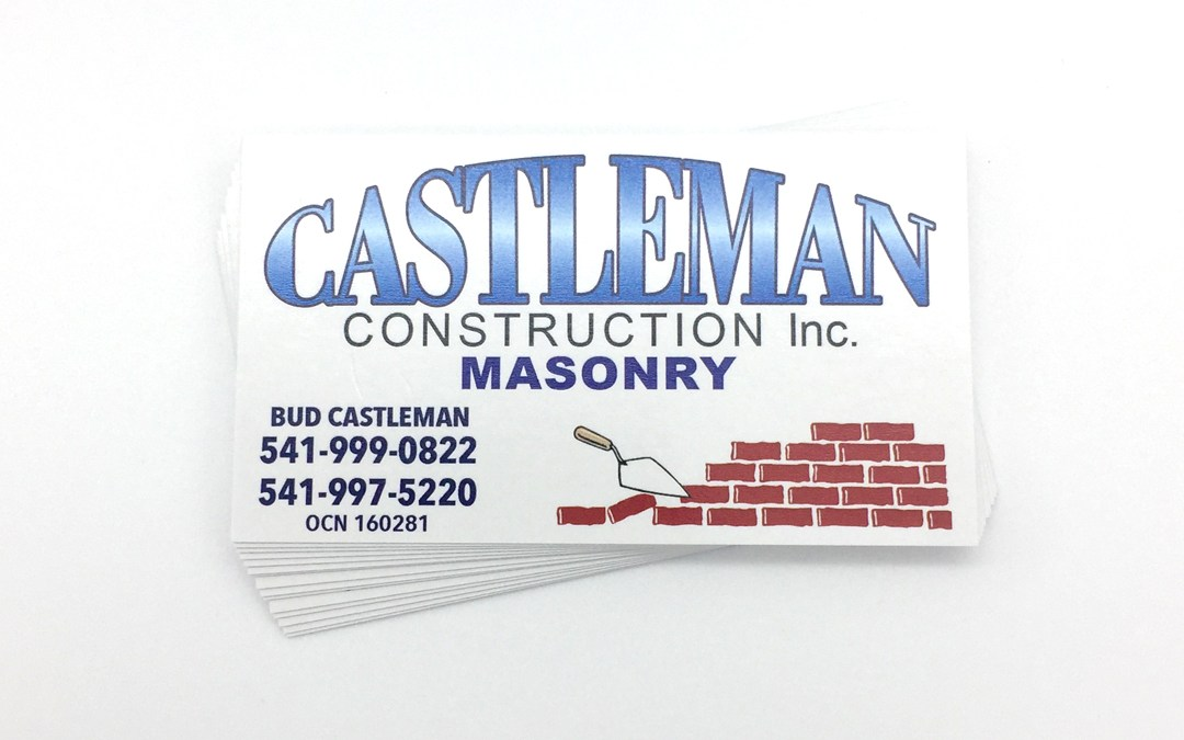 Castleman Construction – Business Cards