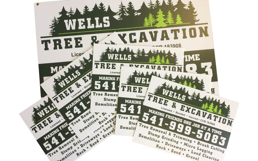 Wells Tree & Excavation – Signs