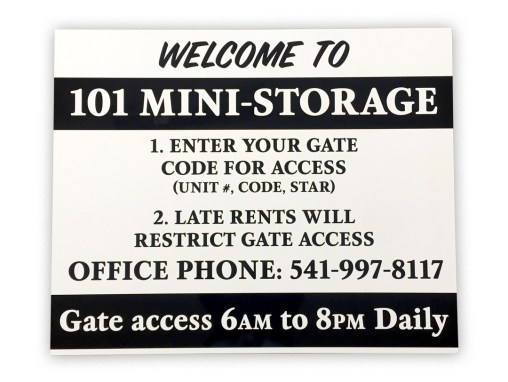 101 Mini Storage – Sign