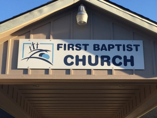 First Baptist Church – Sign