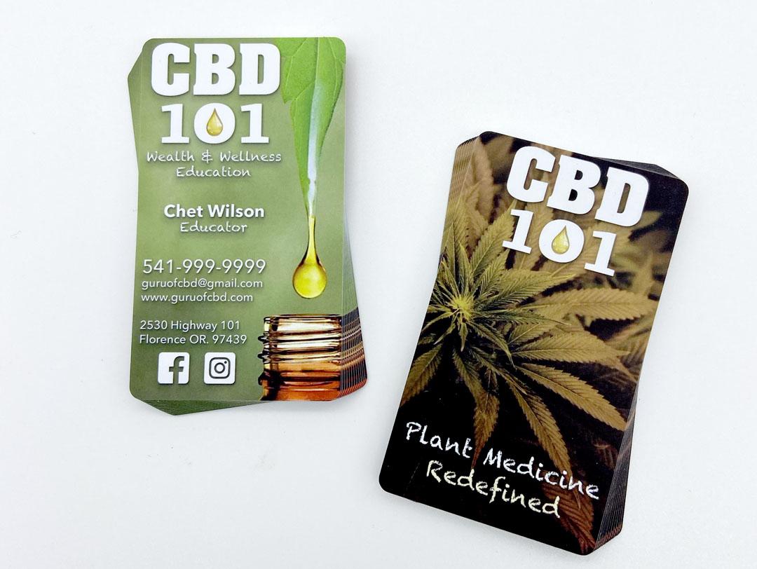 CBD 101 – Plastic Business Cards