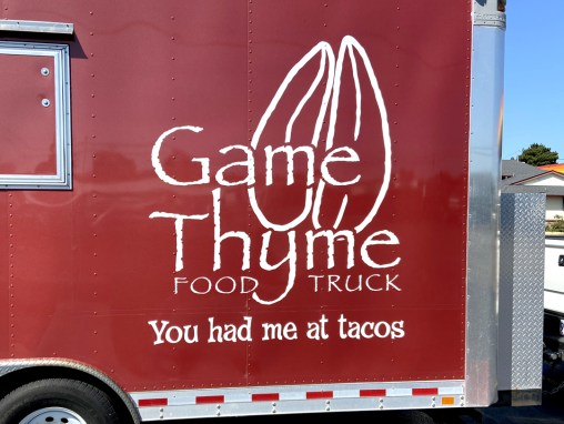 Game Thyme Food Truck  – Vinyl Graphic