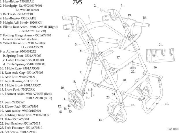 Replacement Parts for Walkers, Wheelchairs, Scooters