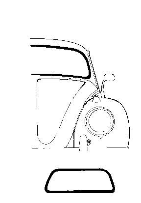 WINDSHIELD, FRONT, CLEAR GLASS, BUG SEDAN 1958-1964 (Ready