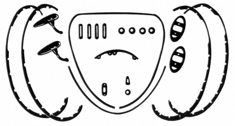 DELUXE BODY RUBBER & PLASTIC KIT, STANDARD BUG SEDAN 1973