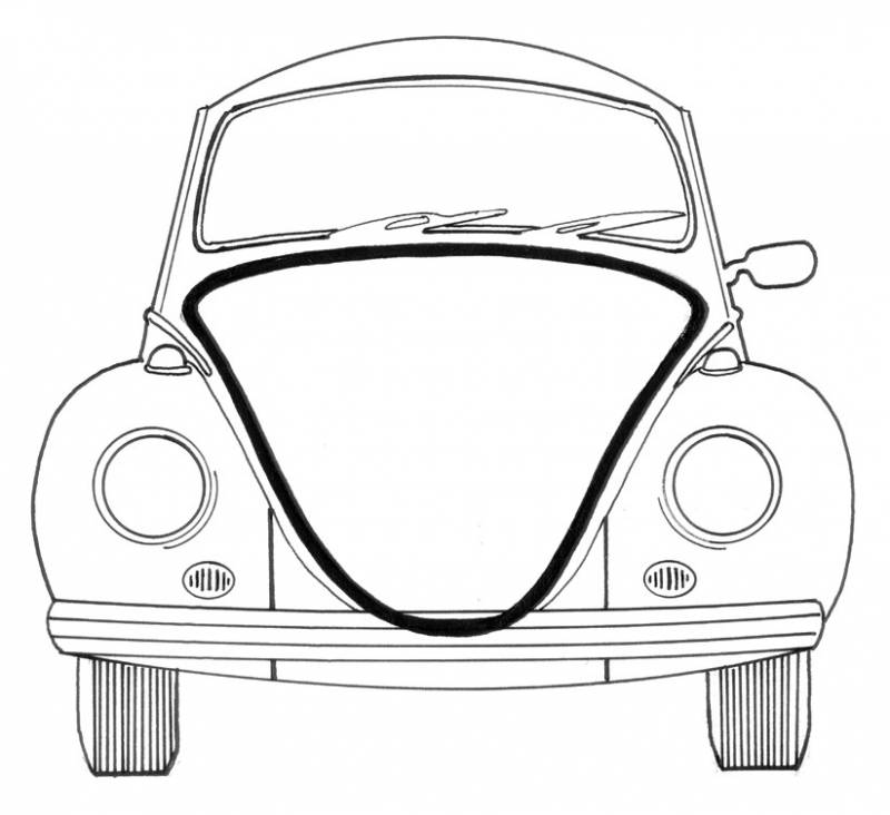 SEAL, FRONT HOOD *GERMAN* STD BUG 1961-77, SUPER BEETLE