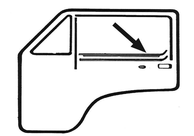 WINDOW SCRAPER, INSIDE DOOR LEFT OR OUTSIDE RIGHT *GERMAN