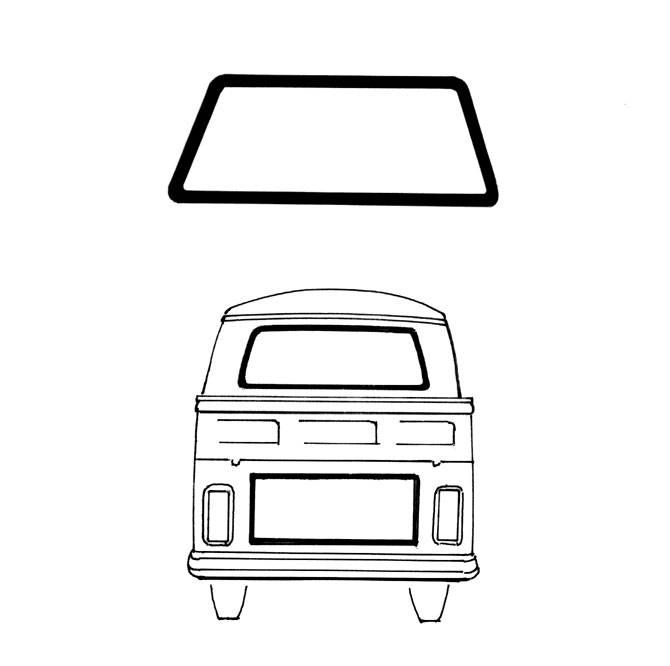 SEAL, REAR WINDOW CAL LOOK, SINGLE OR DOUBLE CAB PICKUP