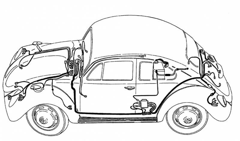MAIN WIRING LOOM, KARMANN GHIA 1956-59