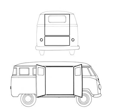 *MASTER KIT* EXTERIOR RUBBER, BUS 1955-57 (With 6 Side