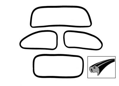 WINDOW SEAL KIT, AMERICAN STYLE WITH POPOUTS, STD. BUG