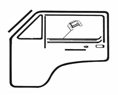 DOOR SEAL KIT, MODELS WITH CHROME DOOR WINDOW MOLDINGS