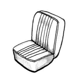 SEAT COVER,SMOOTH TAN,GHIA CONV 58-60