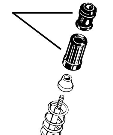 FRONT STRUT STOPS AND PLASTIC COVERS, SET OF 4, SUPER