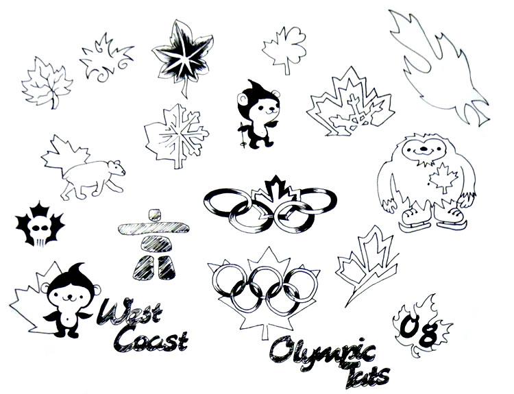 Thomas Lockhart's West Coast Tattoo - Olympic / Canadiana Tattoo Flash