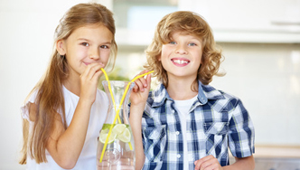 Kids Drinking Water - West Coast Water Filtration