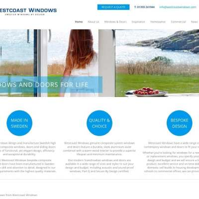 New website launch for Westcoast Windows