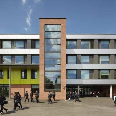 Westcoast Windows supply their Swedish composite windows for Stratford Academy in East London