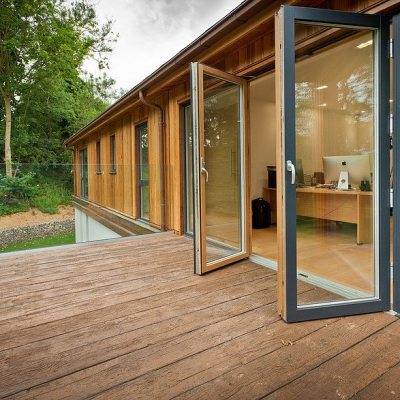 Swedish aluminium timber composite doors are the ideal solution for patios, terraces and balconies