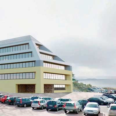 Unique views for Hogia office building with commercial composite window solutions from Westcoast Windows Sweden