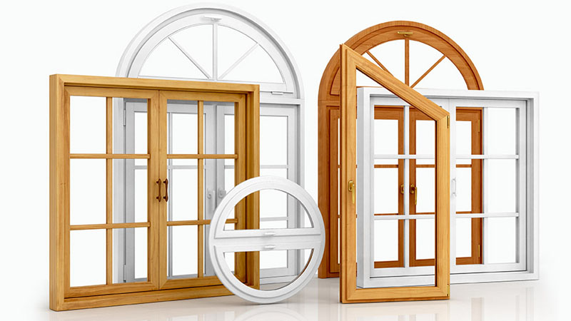 Different styles of window frames