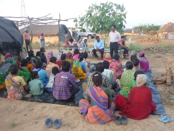 India 12 15 Village meeting