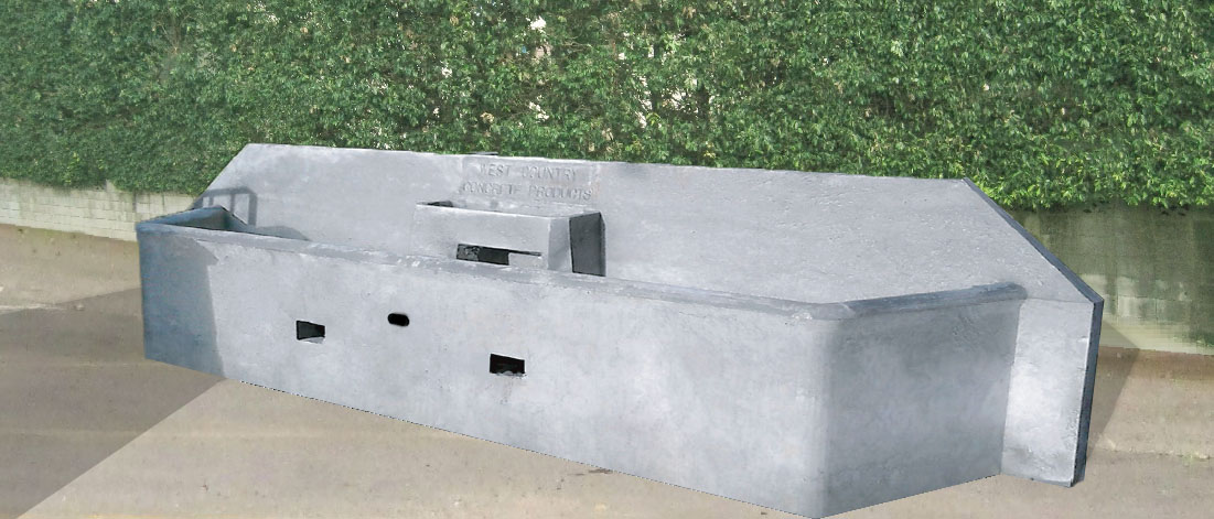 Double Cubicle End Wall Trough
