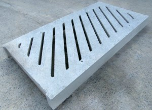 Concrete slurry channels, slats and related concrete products
