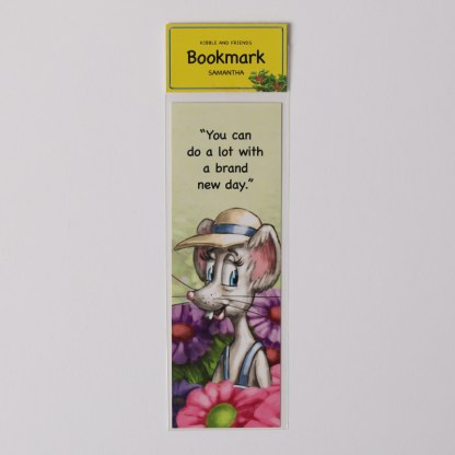 samantha the rat bookmark from kibble the monarch caterpillar afraid to get wings by anita gnan