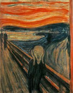 The Scream - Evard Munch, courtesy of Wikipedia.