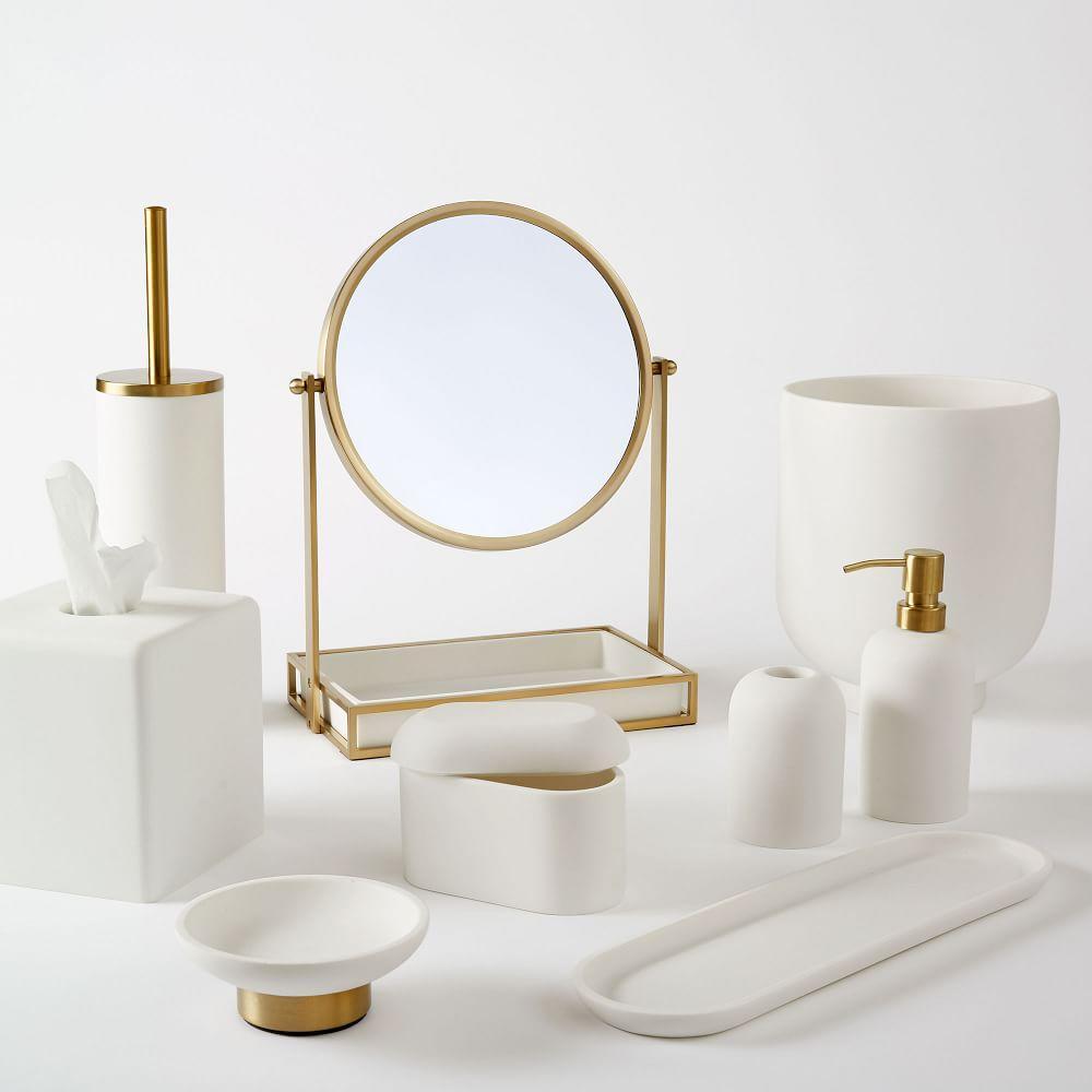 Modern Resin Stone Bathroom Accessories West Elm United Kingdom