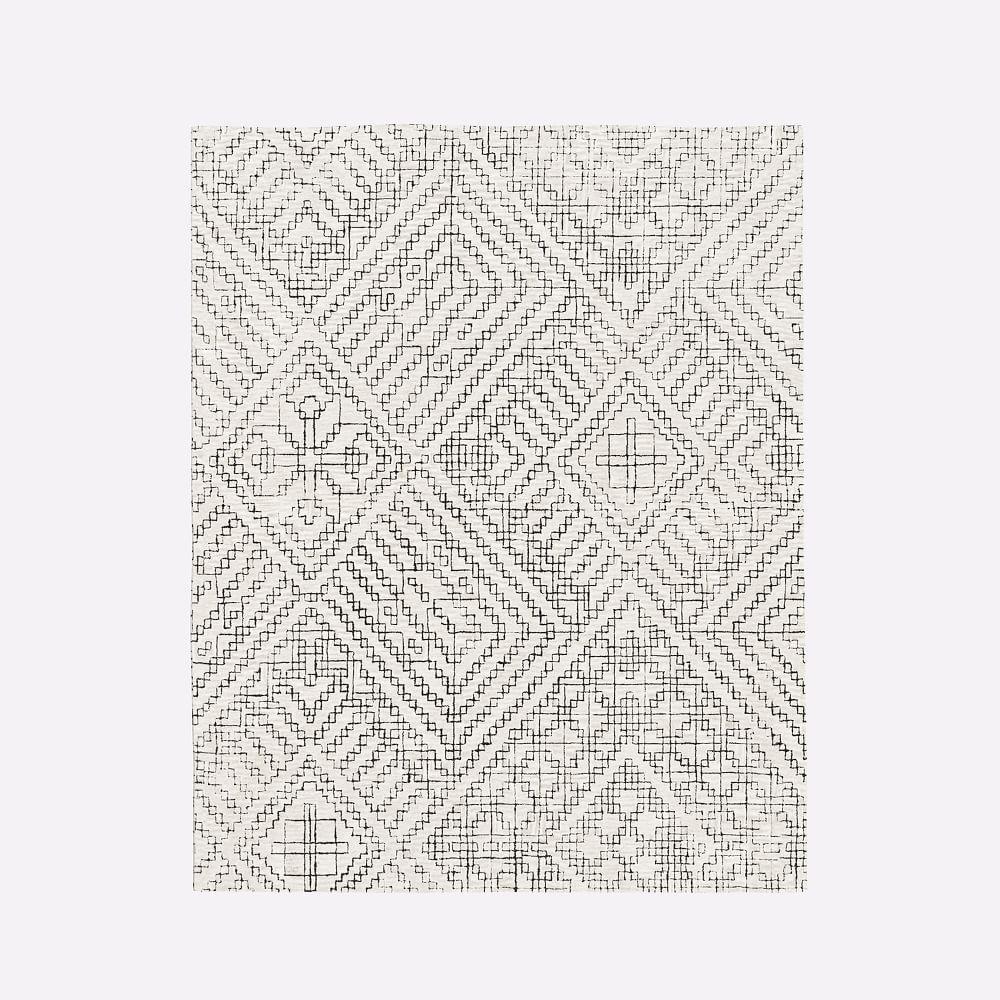 stone tile rug west elm united kingdom