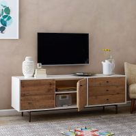 "Reclaimed Wood + Lacquer Media Console (70"")"