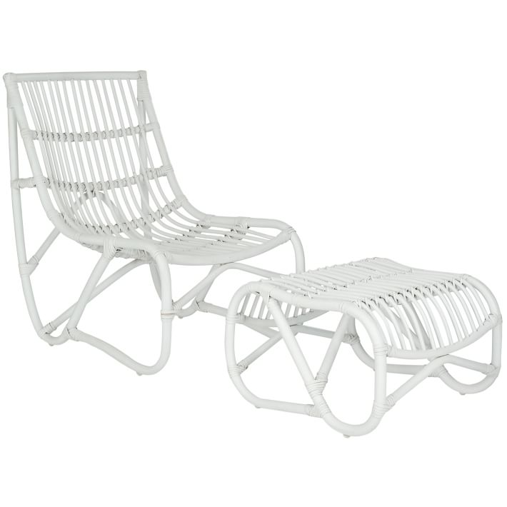 outdoor chair and ottoman hunting blind chairs wicker set west elm